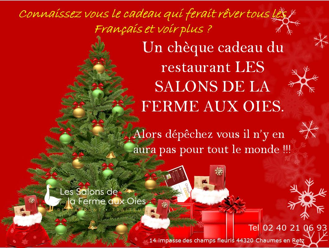 Chèque cadeau du restaurant Les Salons de la Ferme aux Oies